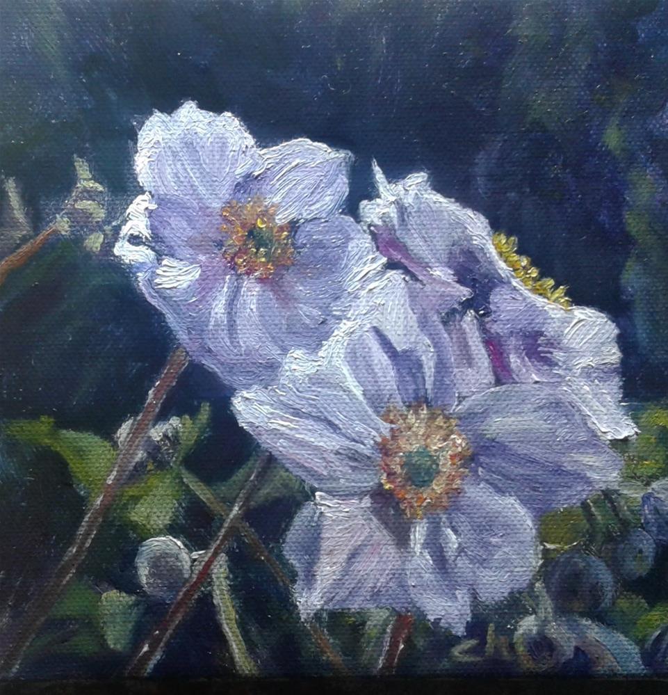 """Japanese Anemones"" original fine art by Candi Hogan"