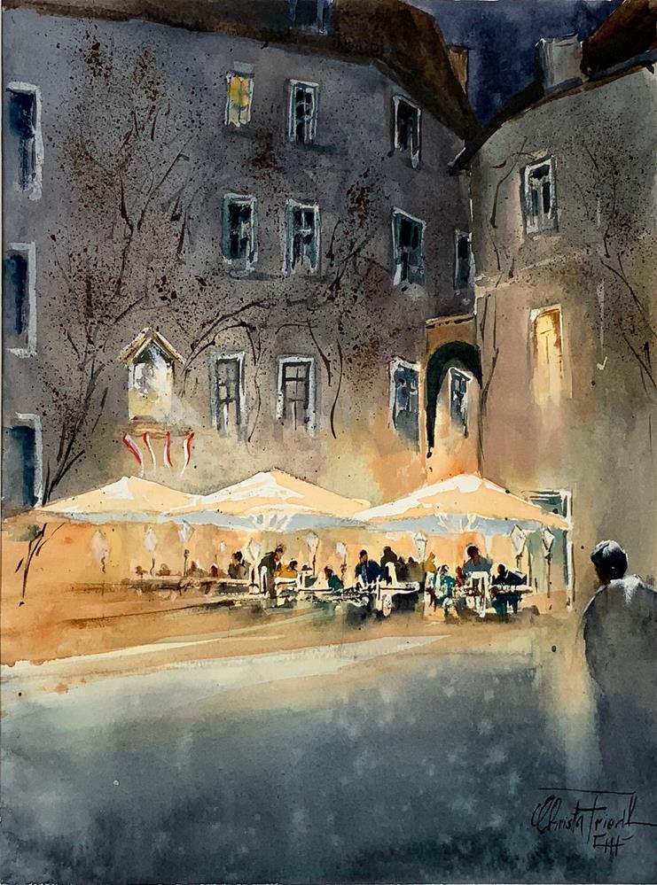 """""""""""Griechenbeisl"""" - Vienna"""" original fine art by Christa Friedl"""