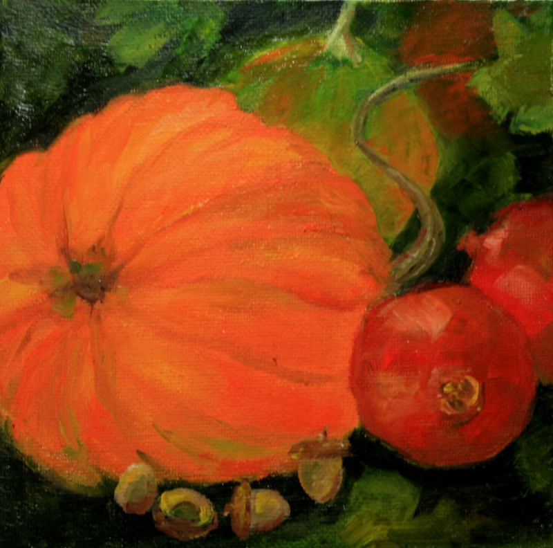 """Autumn Harvest"" original fine art by Jean Nelson"
