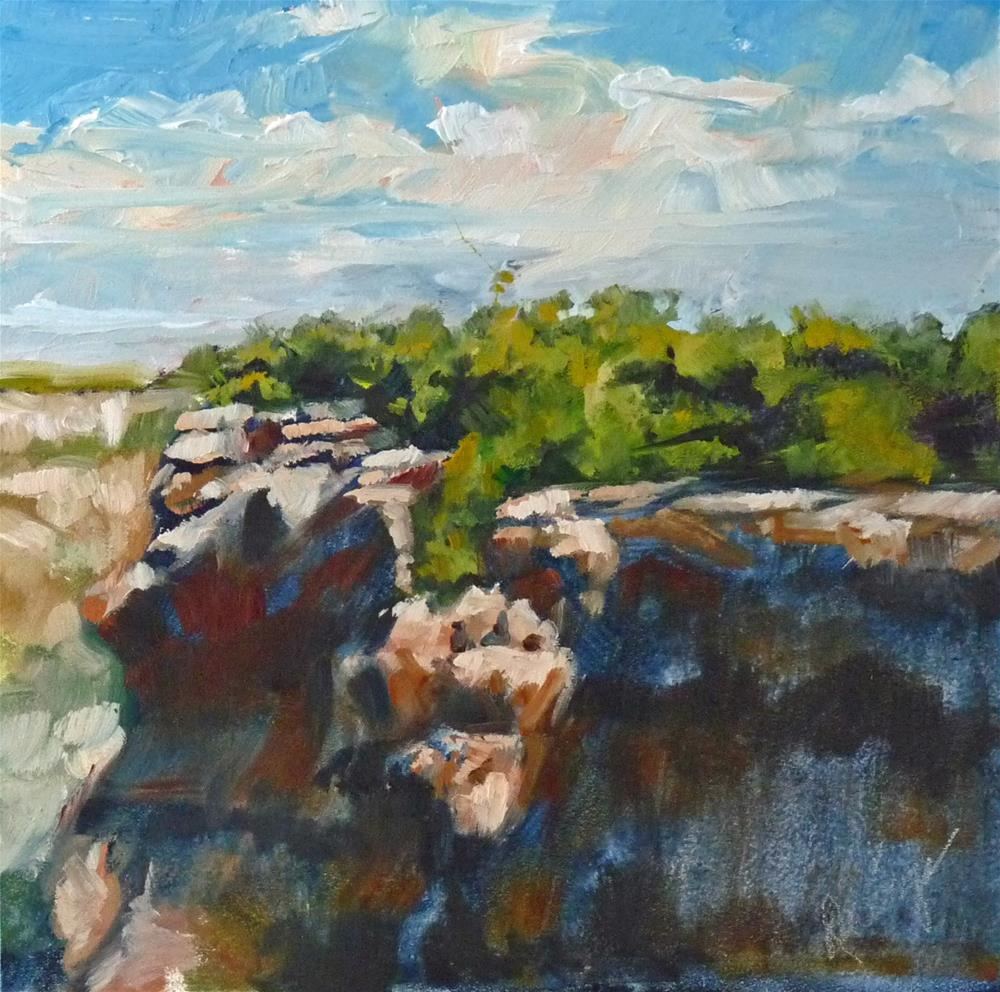 """""""Take It To The Edge"""" original fine art by Sharman Owings"""