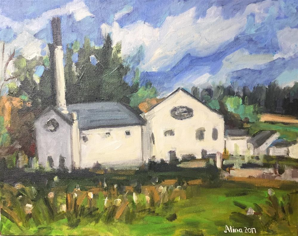 """Glengoyne Distillery"" original fine art by Alina Vidulescu"