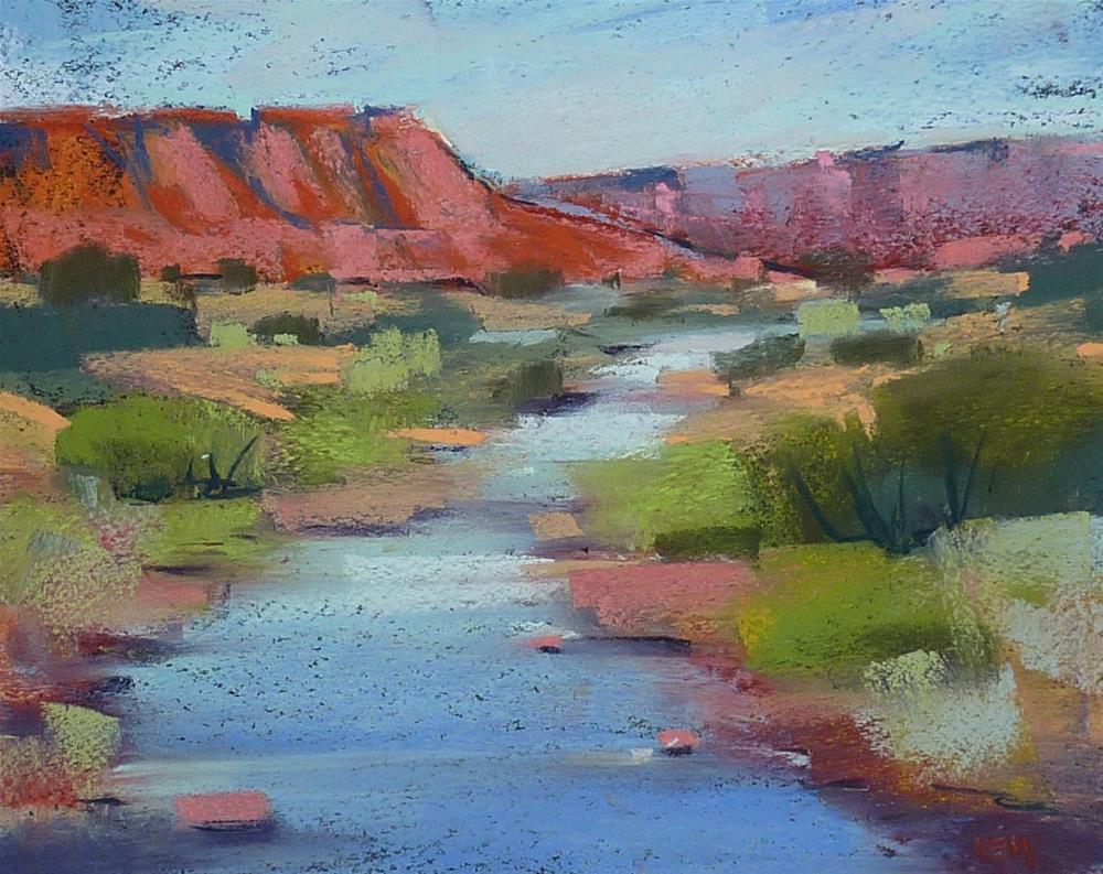 """Desert Oasis....River in New Mexico"" original fine art by Karen Margulis"