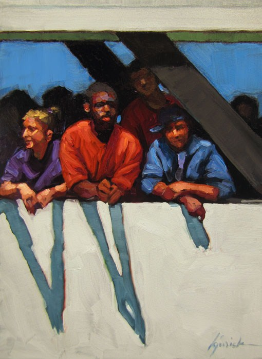 """Boat People"" original fine art by Karin Jurick"