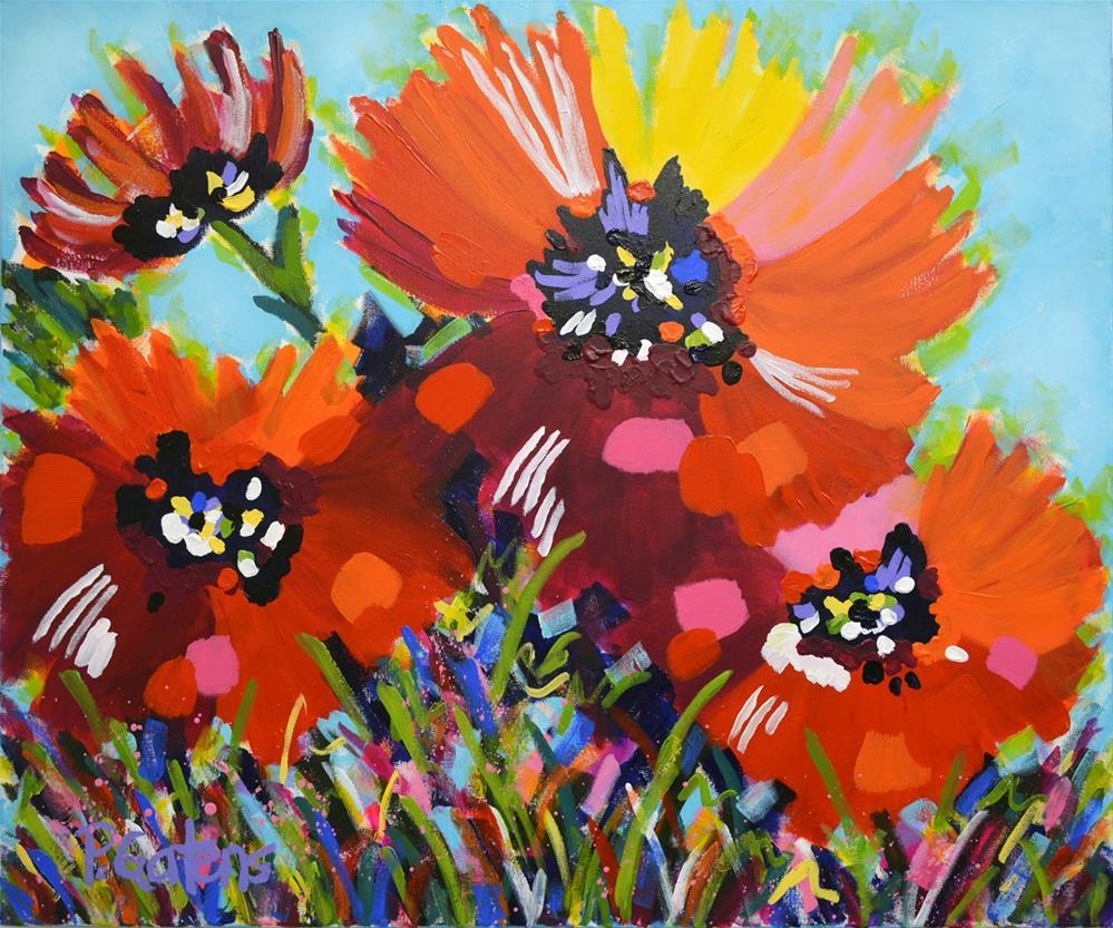 """Poppies for Sarah"" original fine art by Pamela Gatens"