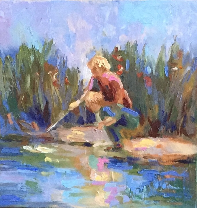 """By the Pond"" original fine art by Charlotte Fitzgerald"
