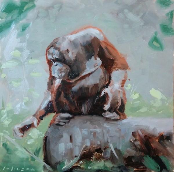 """Foraging"" original fine art by Dan Johnson"