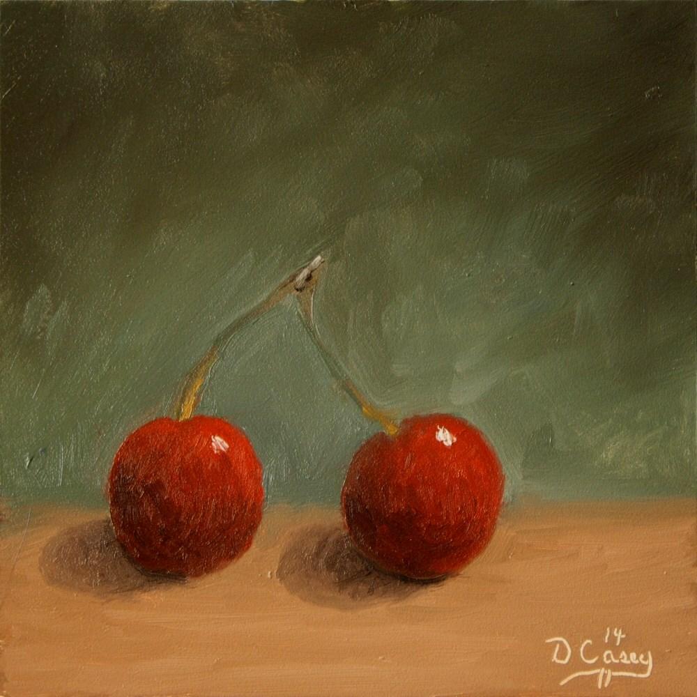 """Kitchen Painting - Dancing Cherries"" original fine art by Dave Casey"