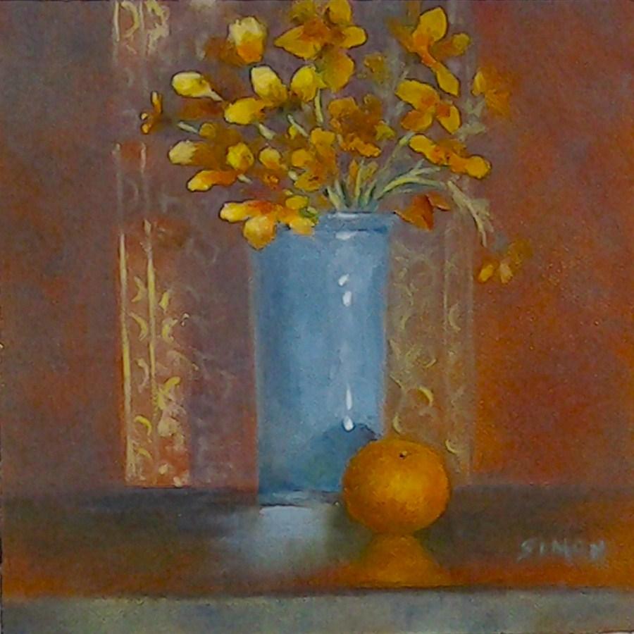 """Sunshine in a Vase"" original fine art by A.K. Simon"