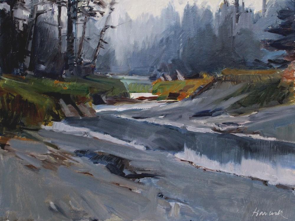 """Kodiak Tidal Creek"" original fine art by Gretchen Hancock"