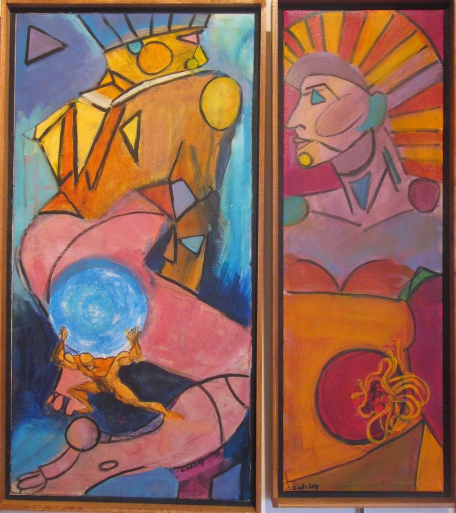 """Zeus and Athena"" original fine art by Carol Wiley"