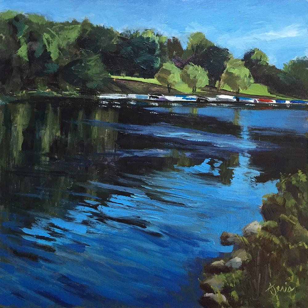 """Dock of the River"" original fine art by Andrea Jeris"