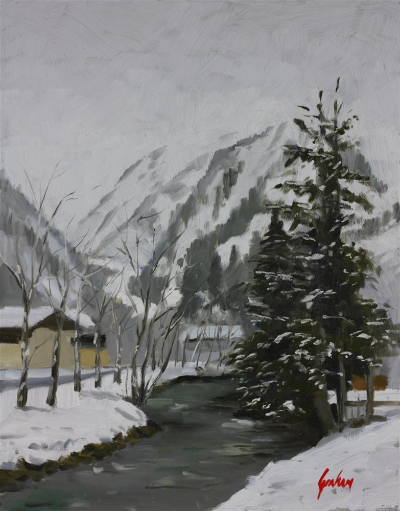 """""""Falling snow, Kitzsteinhorn"""" original fine art by Graham Townsend"""