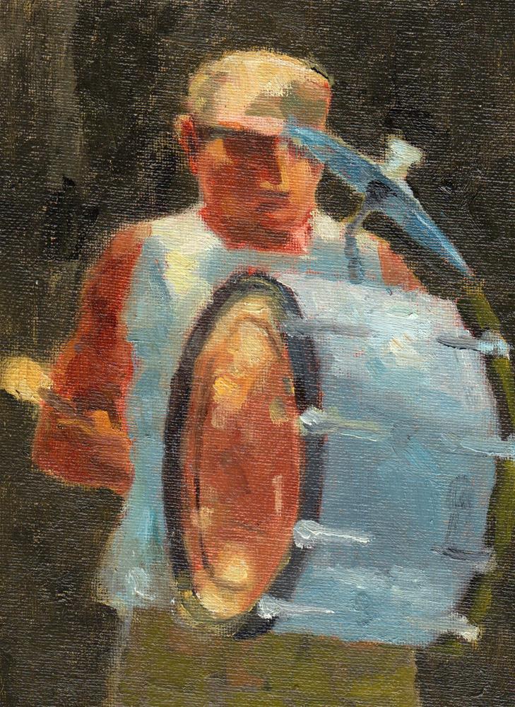 """The Drummer"" original fine art by Marlene Lee"
