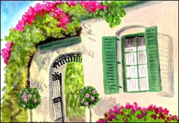 """""""Very French"""" original fine art by Patricia Ann Rizzo"""