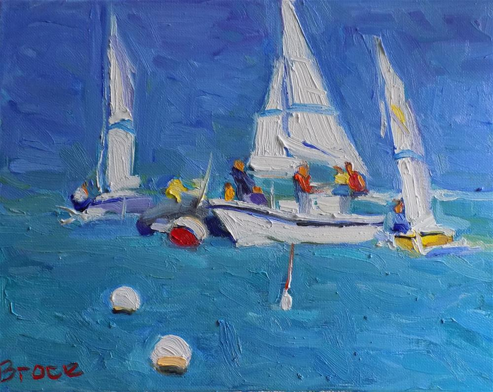 """The Joy Of Sailing"" original fine art by Rita Brace"