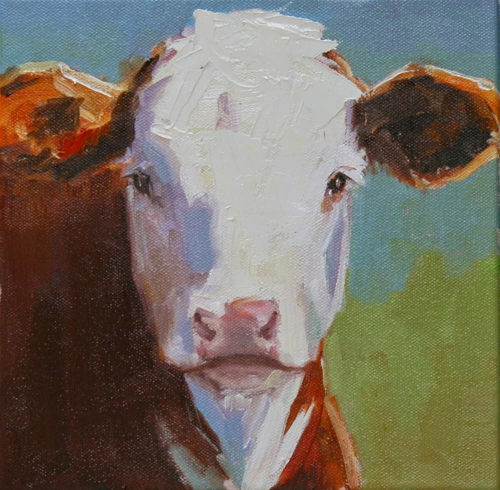 """little hereford"" original fine art by Carol Carmichael"