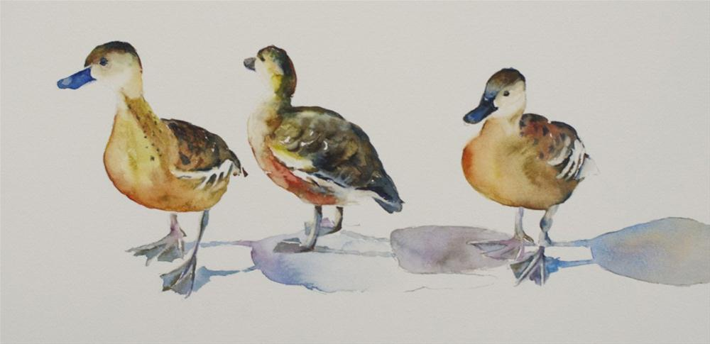 """Duck Trio"" original fine art by Sue Churchgrant"