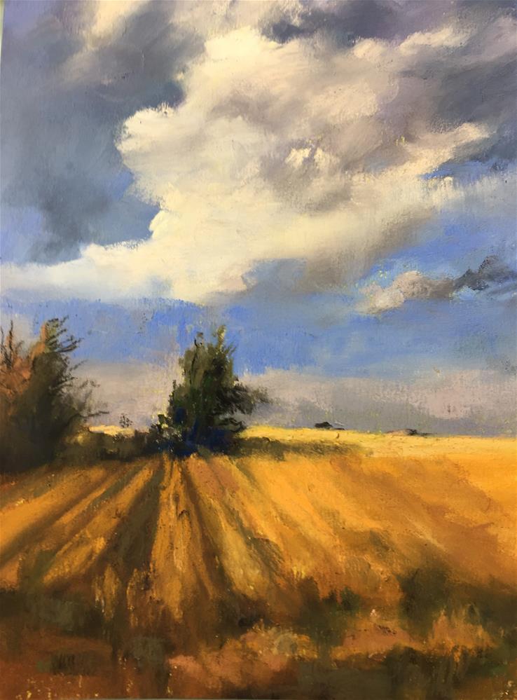 """Harvest time"" original fine art by Jan Hutchinson"
