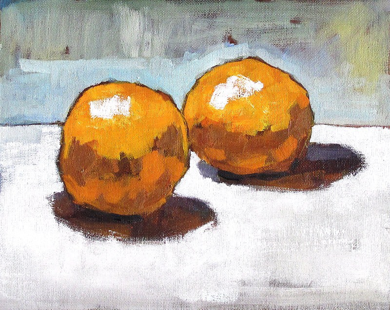 """I'll Give You 2 Oranges"" original fine art by Kevin Inman"