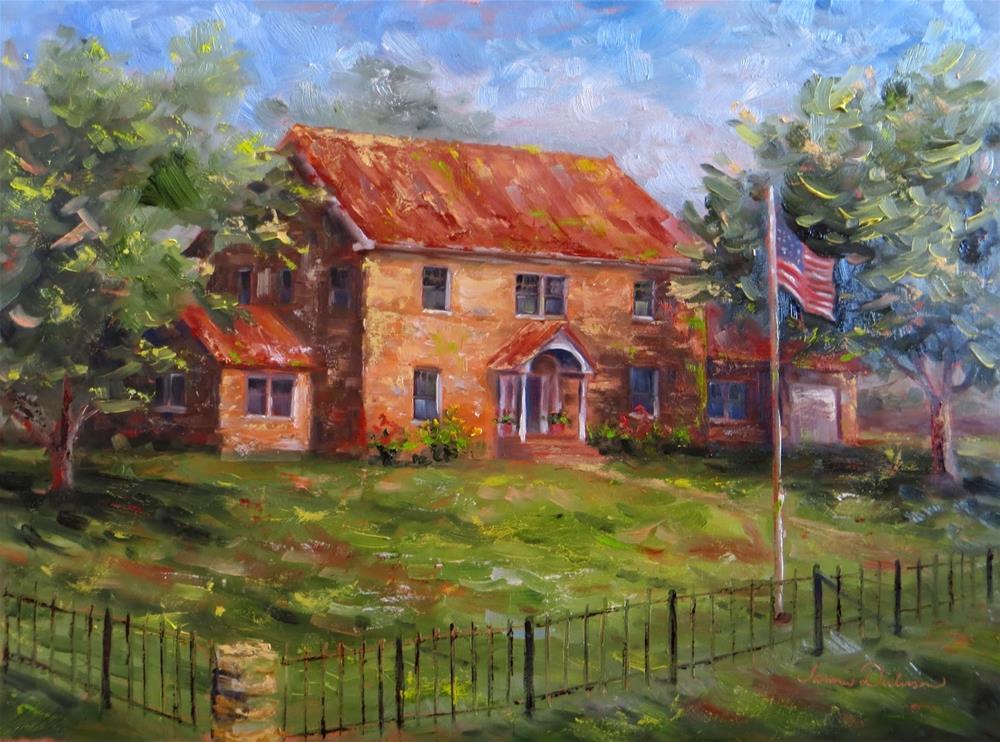 """210 Kansas Avenue"" original fine art by Tammie Dickerson"