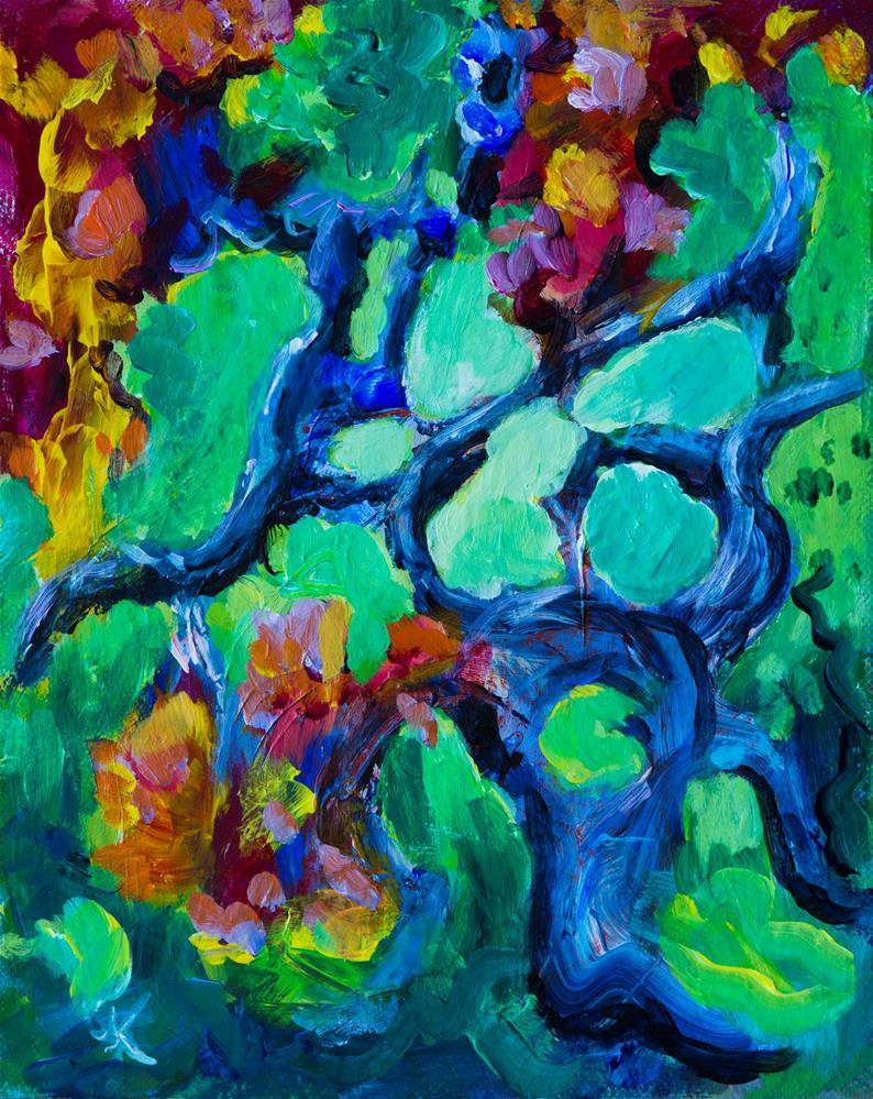"""Spring Tree"" original fine art by Yulia Kazansky"