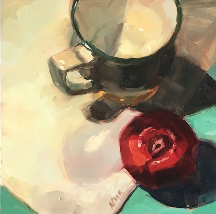 """""""Cup and Plum"""" original fine art by Nealy May Riley"""