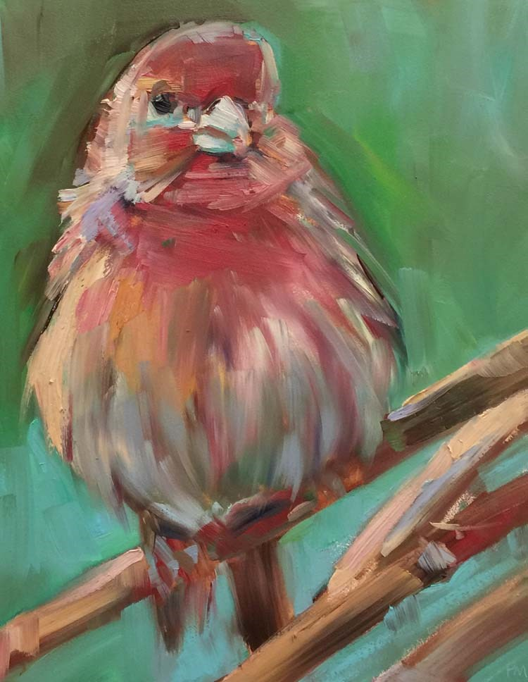 """Peach Sorbet Blush"" original fine art by Patti McNutt"