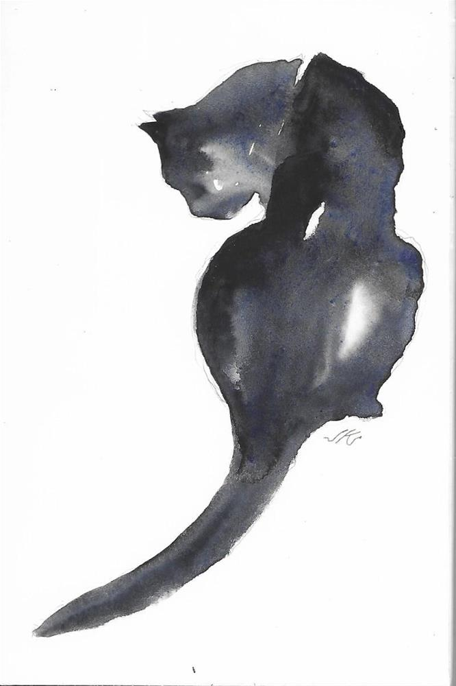 """Daily Cat 34"" original fine art by Jean Krueger"