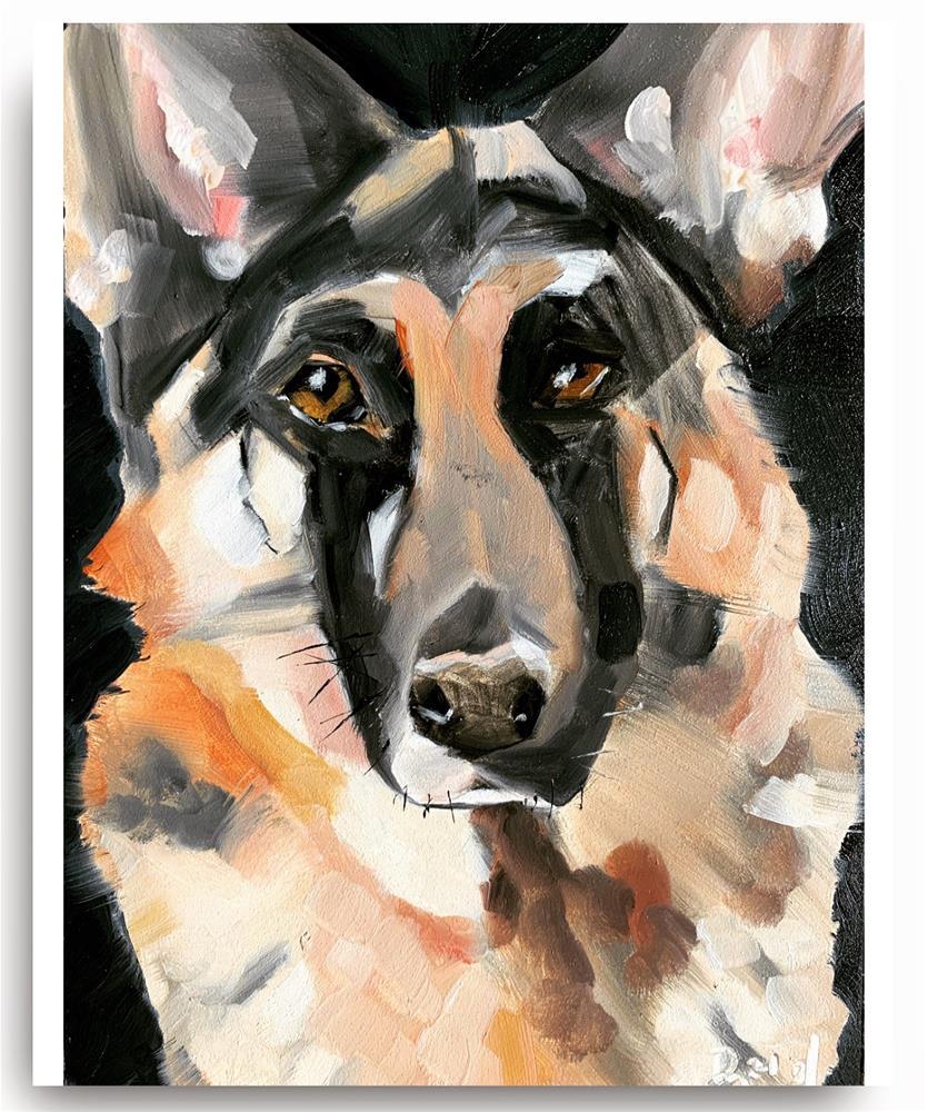 """""""803 Good Dog"""" original fine art by Jenny Doh"""