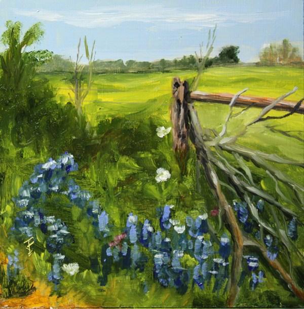 """Fence Post"" original fine art by Jane Frederick"