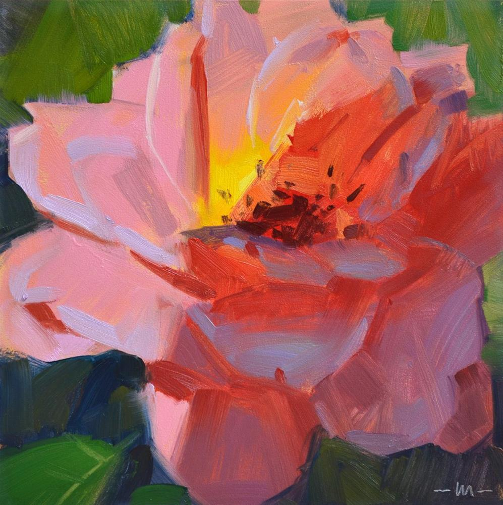 """Half-lit Rose"" original fine art by Carol Marine"