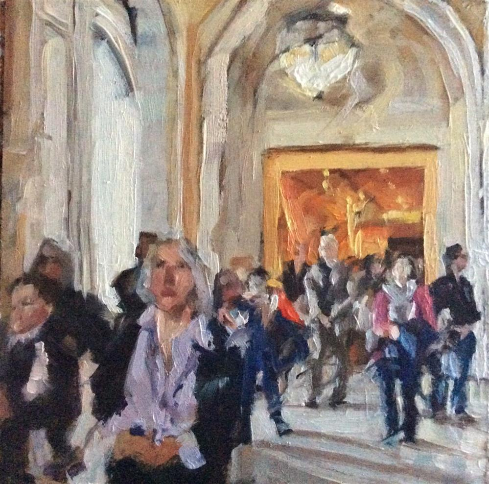 """""""People and Places - NYC Public Library"""" original fine art by Paula Howson-Green"""