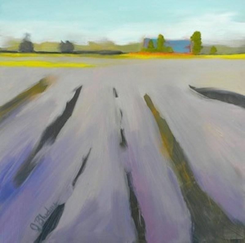"""Sea Of Lavender"" original fine art by Janet Bludau"