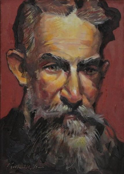 """""""Man With A Beard"""" original fine art by Kirk Miller"""