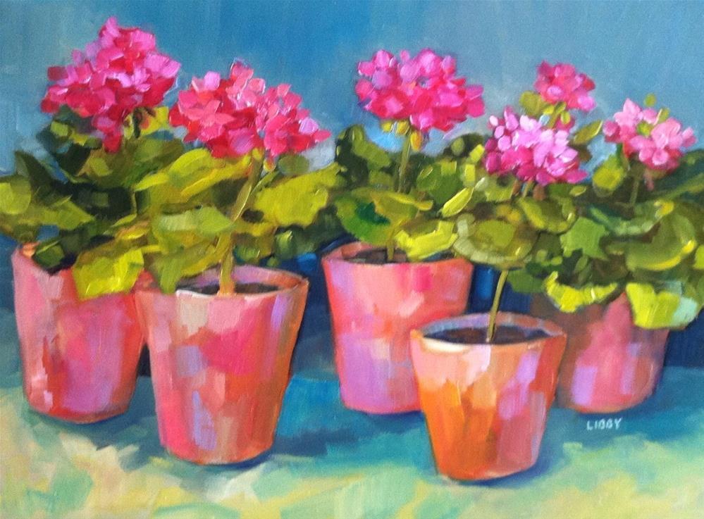 """Aquamarine"" original fine art by Libby Anderson"