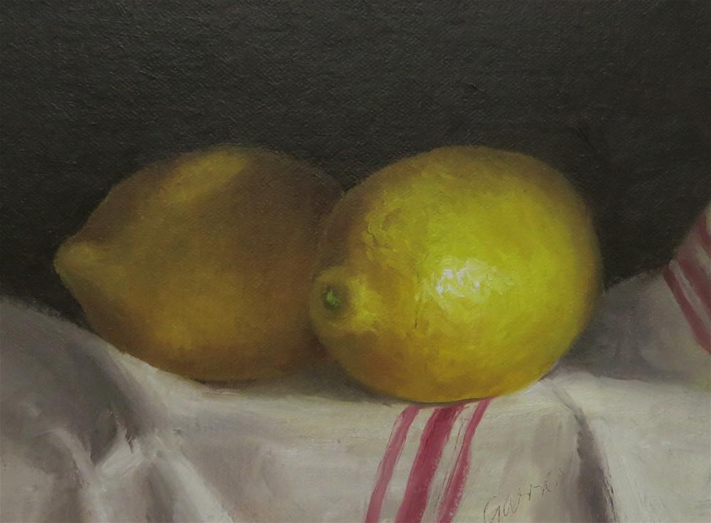 """Two Lemons"" original fine art by Michelle Garro"
