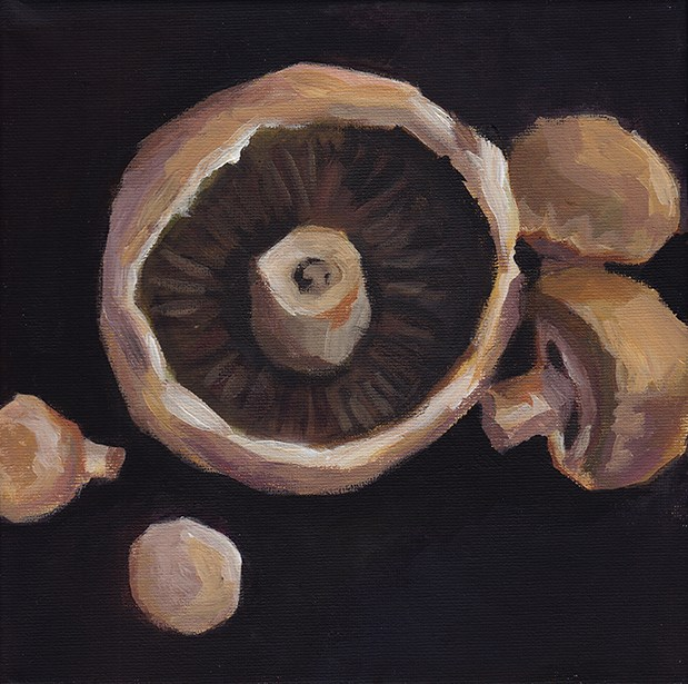 """Mixed Mushrooms"" original fine art by J M Needham"