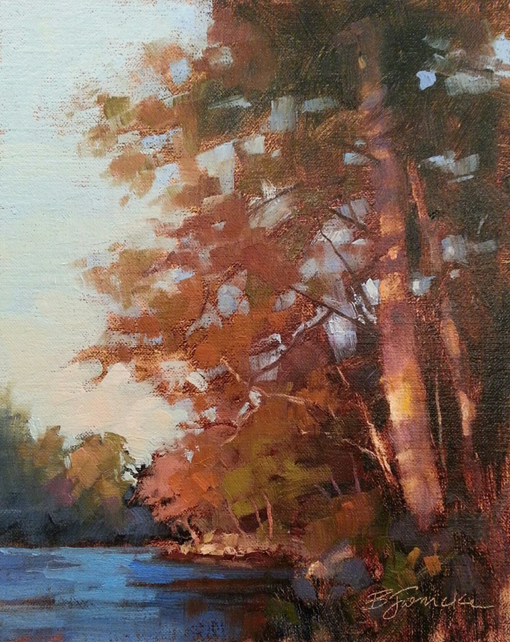 """Autumn Evening on the 'Hooch"" original fine art by Barbara Jaenicke"