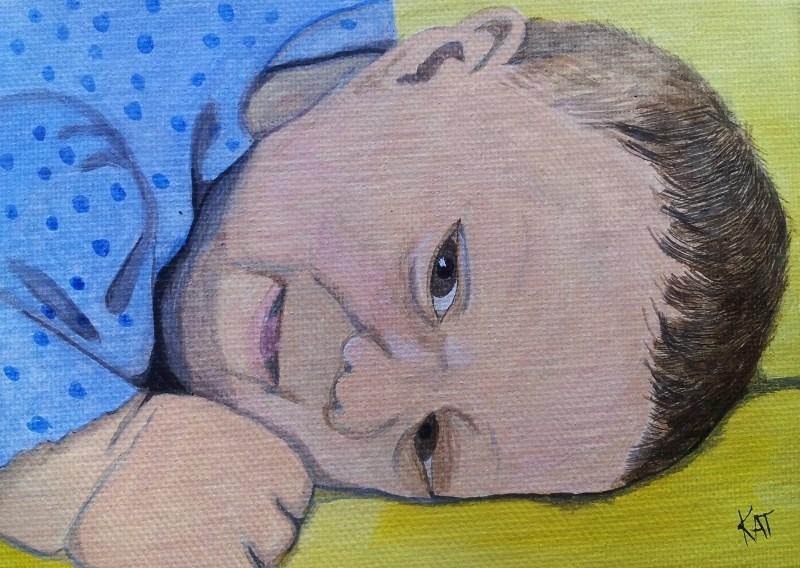 """Small Wonder"" original fine art by Kathleen Carrier"