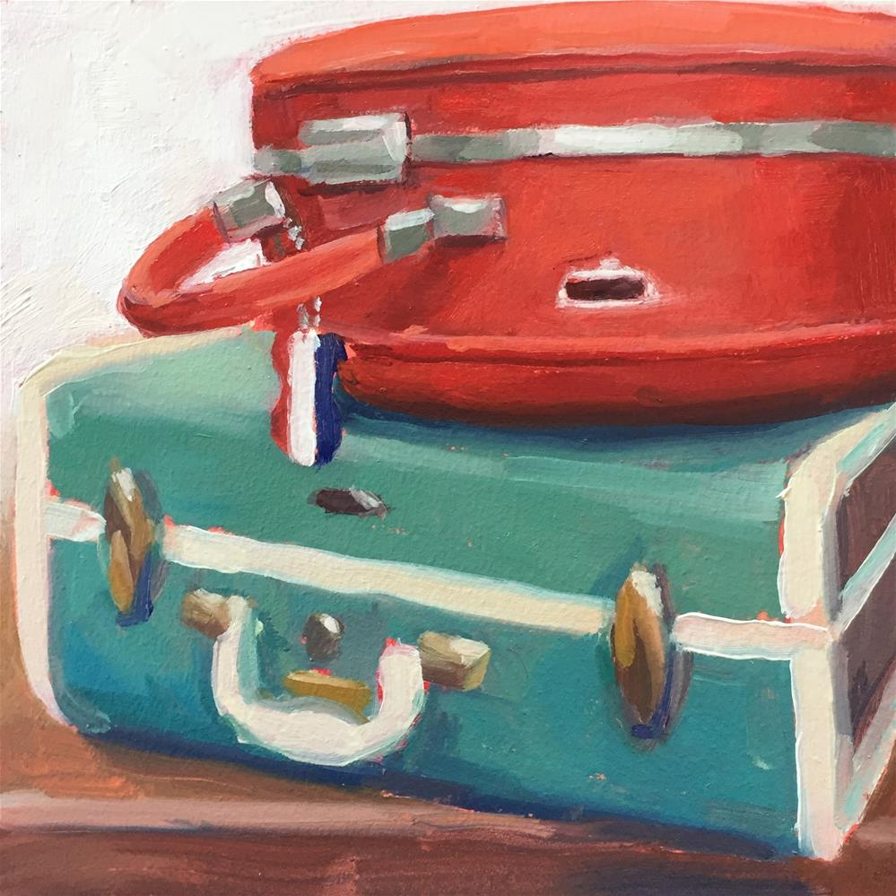 """Vintage Luggage"" original fine art by Lisa Sotero"