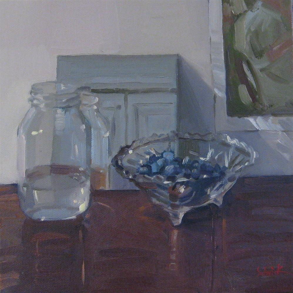 """Blueberries and Water: a $1 aucion"" original fine art by Sarah Sedwick"