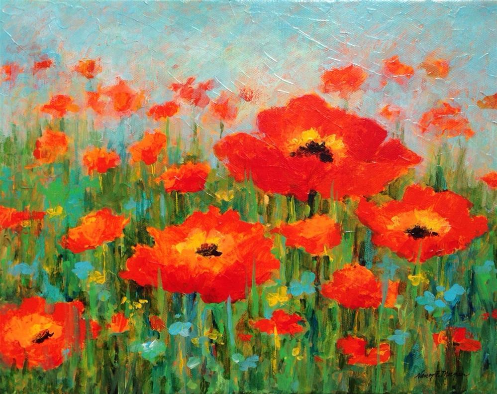 """Poppy Fantasy"" original fine art by Nancy F. Morgan"