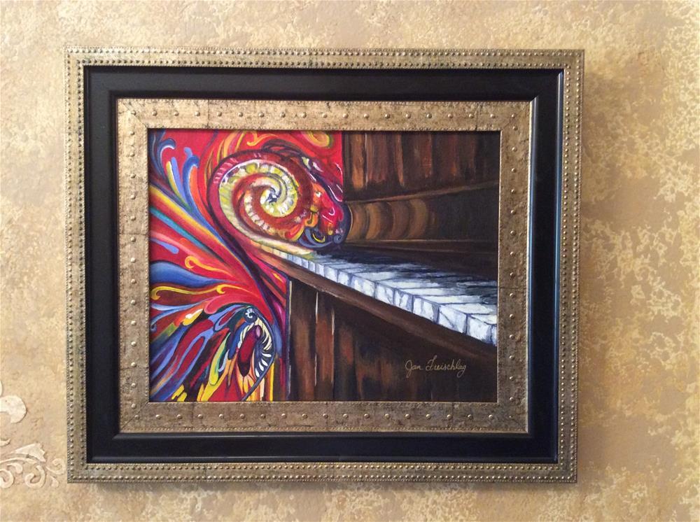 """Ragtime piano"" original fine art by Janice Freischlag"