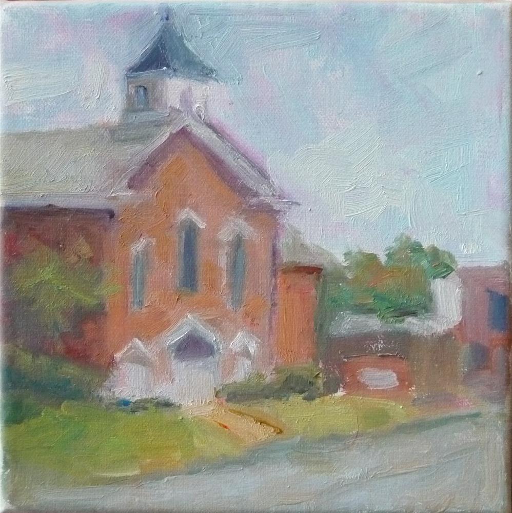 """Shiloh Baptist Church"" original fine art by Carol Josefiak"