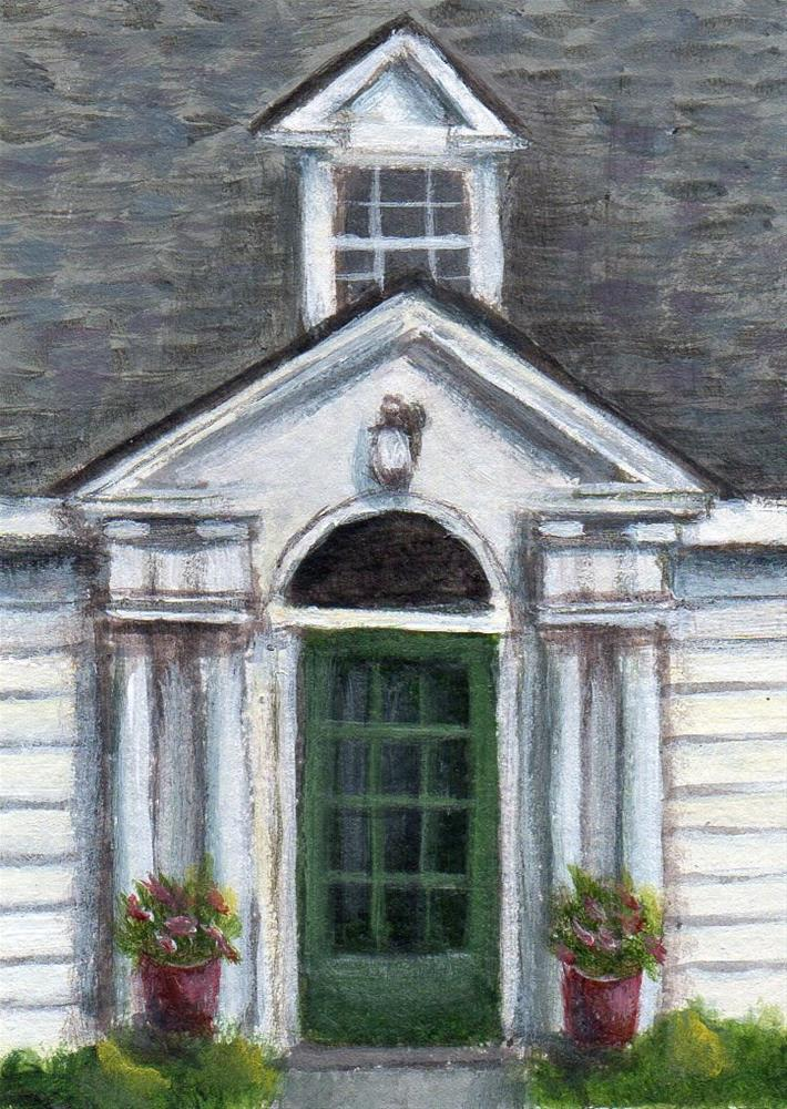"""Wenham Tea House"" original fine art by Debbie Shirley"