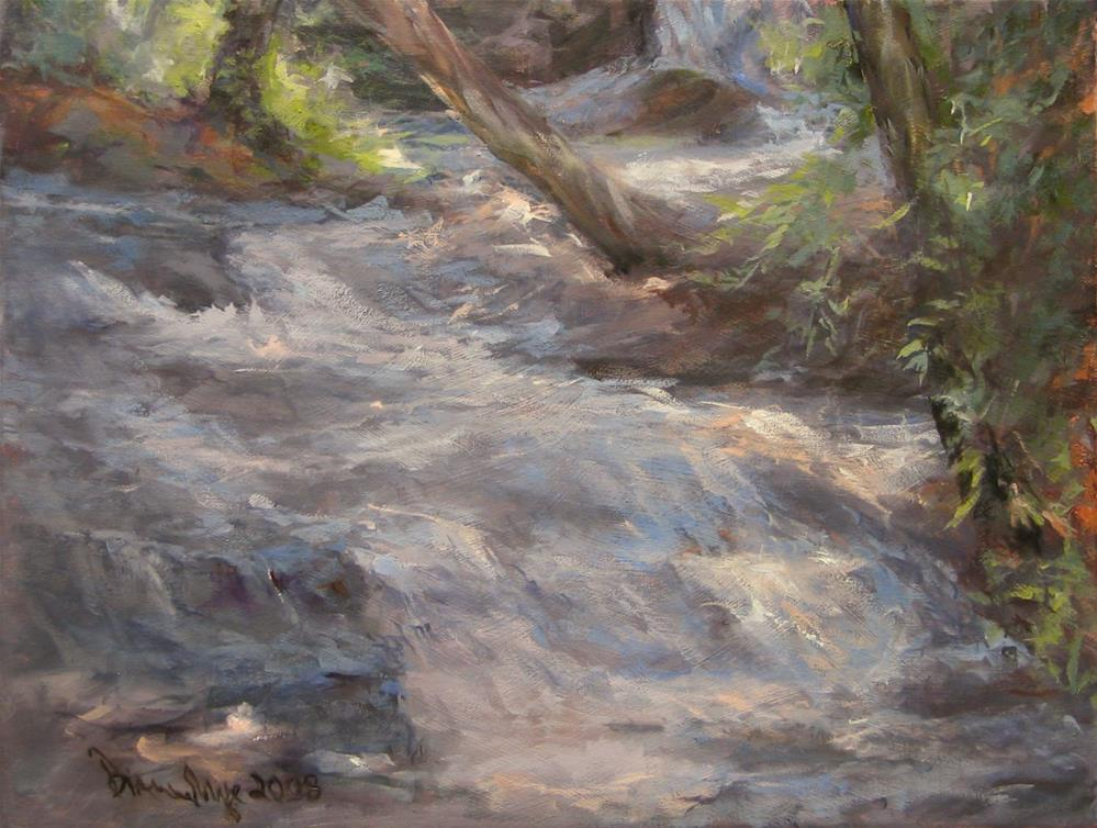 """York Falls, Second View"" original fine art by Dianne Mize"