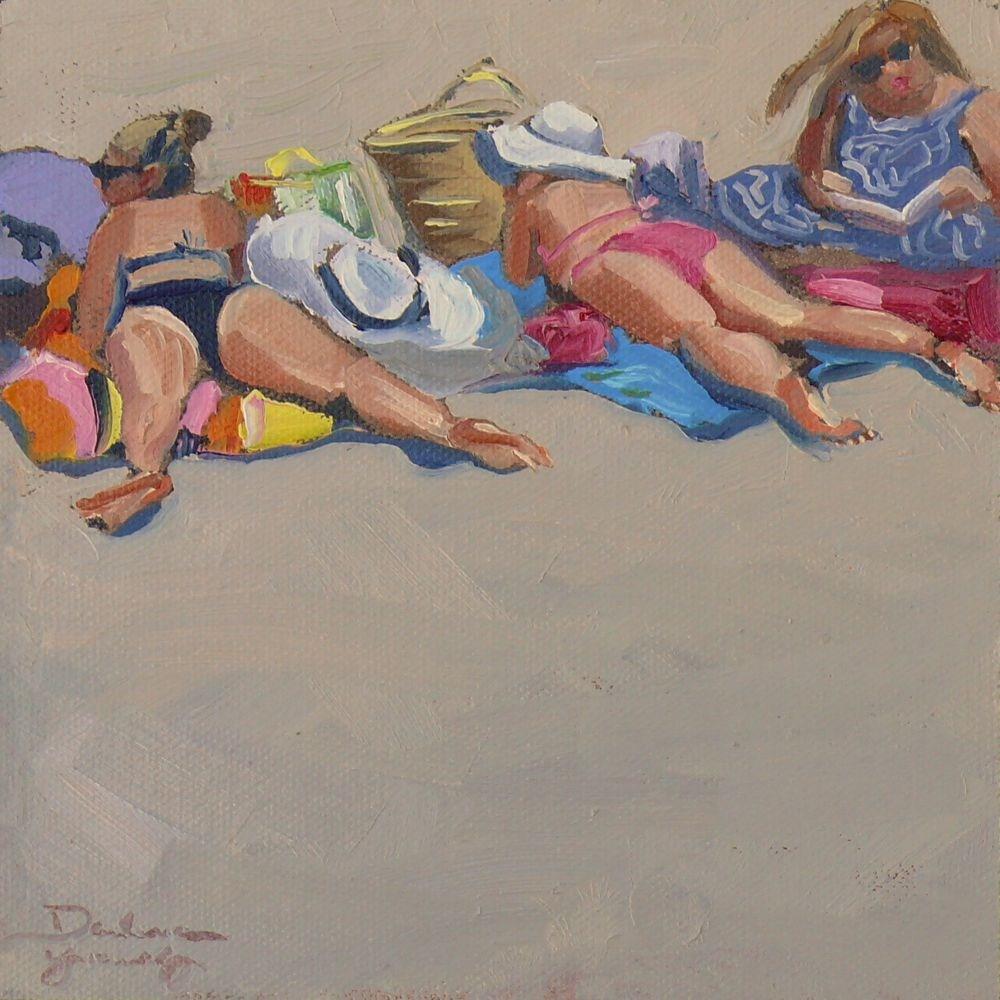 """531 Sand Flowers"" original fine art by Darlene Young"