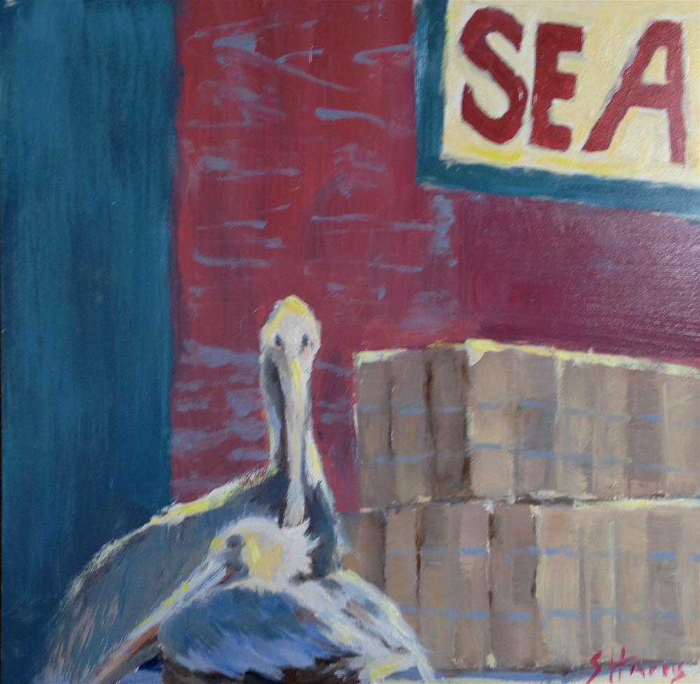 """""""Seaside"""" original fine art by Sandra L Harris"""