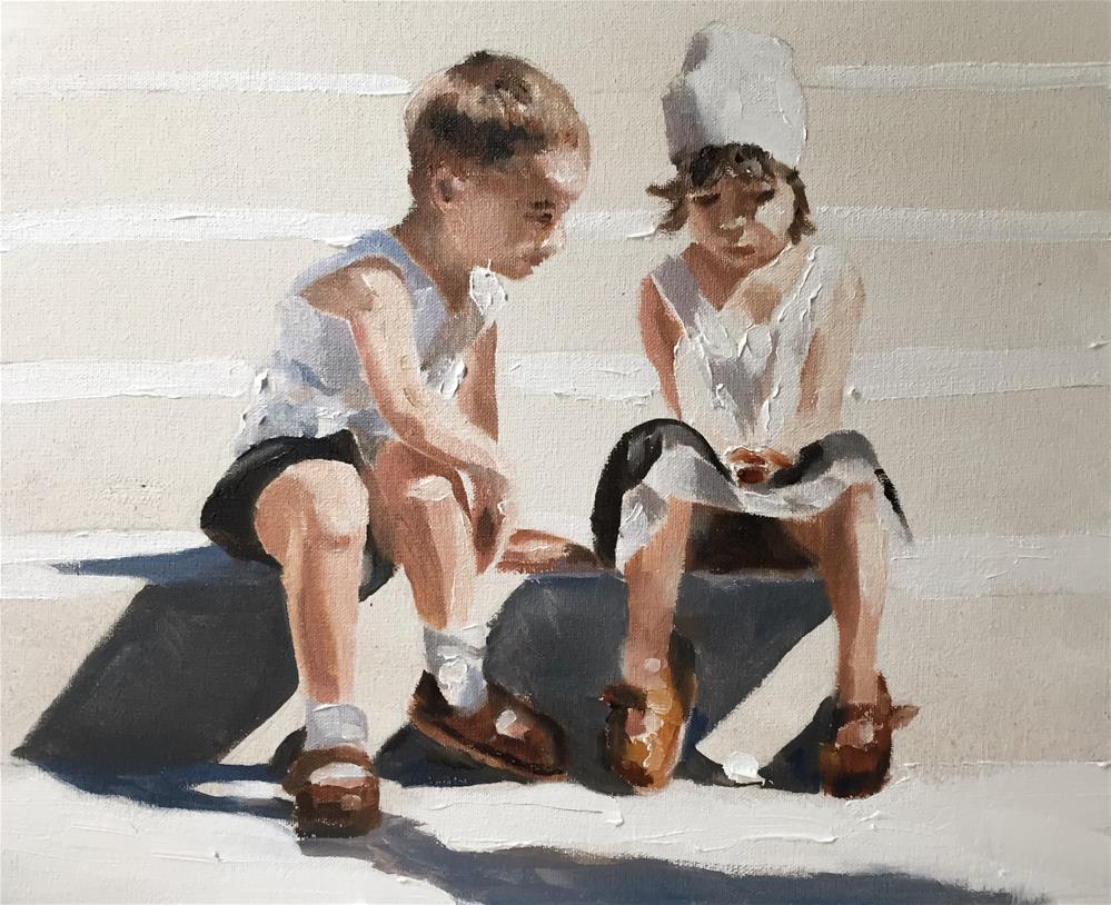 """On the Steps"" original fine art by James Coates"