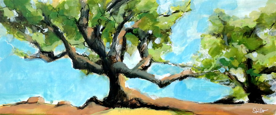 """2926 Great Tree"" original fine art by Dietmar Stiller"